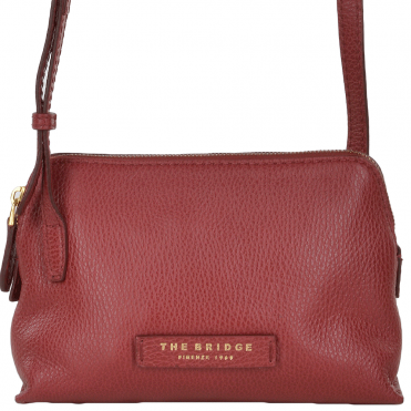 The Bridge Small Italian Cross Body Bag Red Current/gold - 43506 79 2E NH
