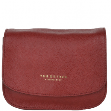 The Bridge Small Italian Cross Body Bag Red Current/gold - 43945 79 2E NH
