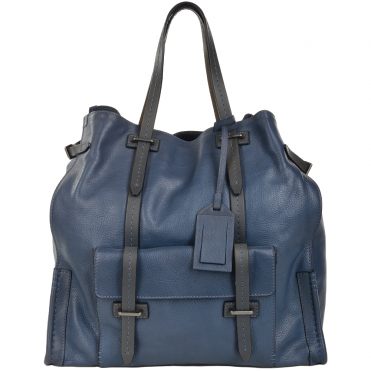Unisex Large Shopper Bag Blue : 00650541P 2K