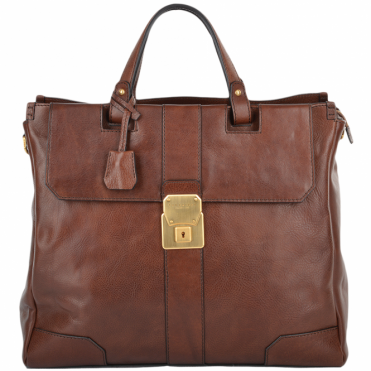 Unisex Shopper Work Bag Brown : 0617251P