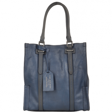The Bridge Unisex Small Travel Shopper Bag Blue - 00650041P 2K