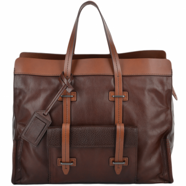 Unisex Travel and Shopper Bag Brown : 0650641P
