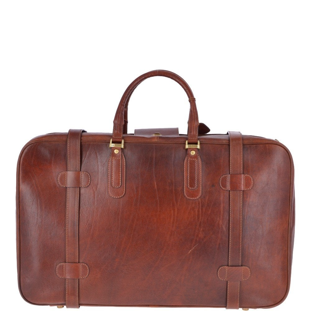 1bb8e3cf7e The bridge vegetable tanned italian leather vintage classic small suitcase  brown image jpg 1000x1000 Leather small