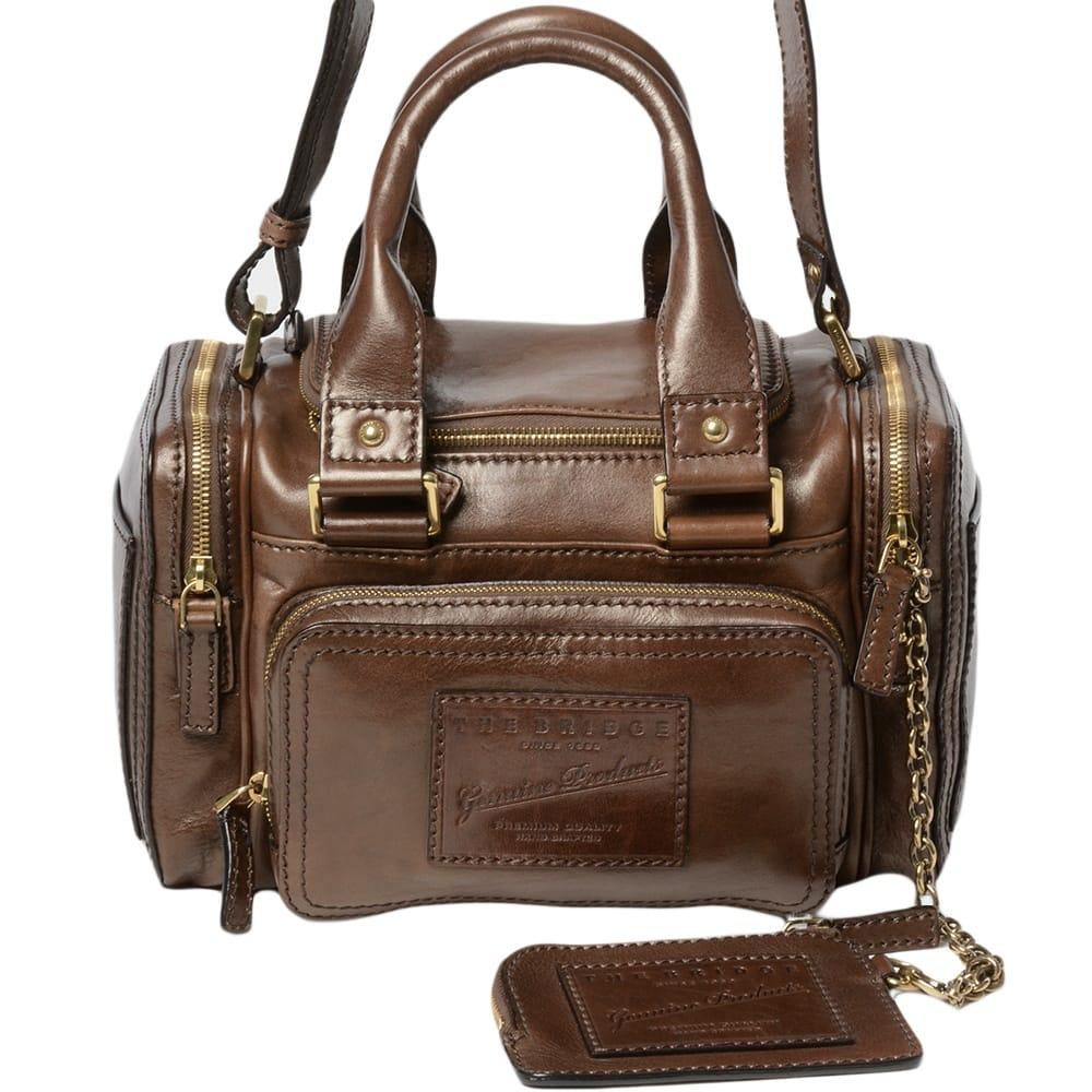Womens Weekend Travel Bag Brown 04855801 Leather Handbags