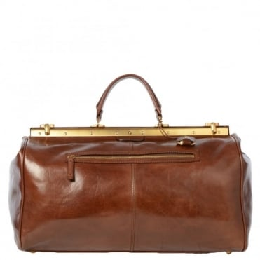 Womens Leather Gladstone Bag Brown : 07431501
