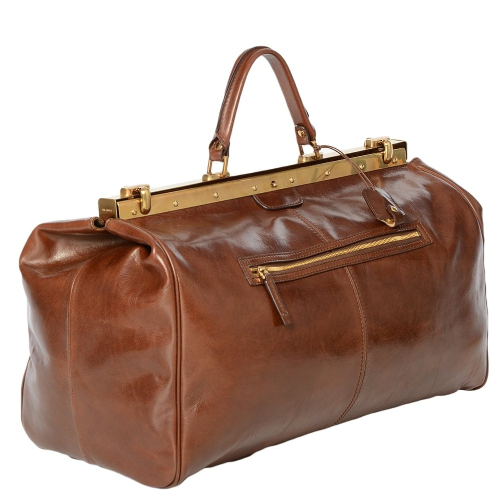 Fantastic Women Leather Handbag Brown