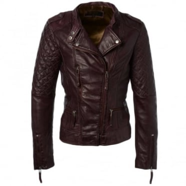 Leather Jacket Purple : Maia