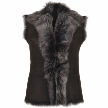 Toscana Suede Leather Gilet Brown : Kachina