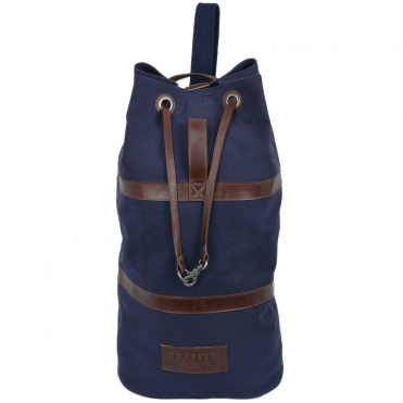 Canvas and Leather Sailor Bag Navy : Seaman