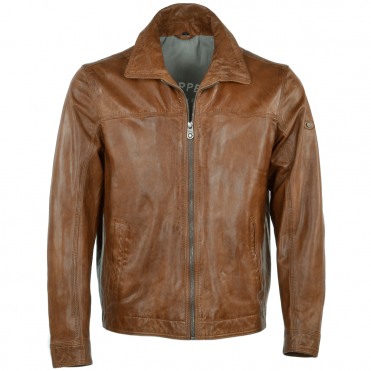 Leather Jacket Cognac : Stallone