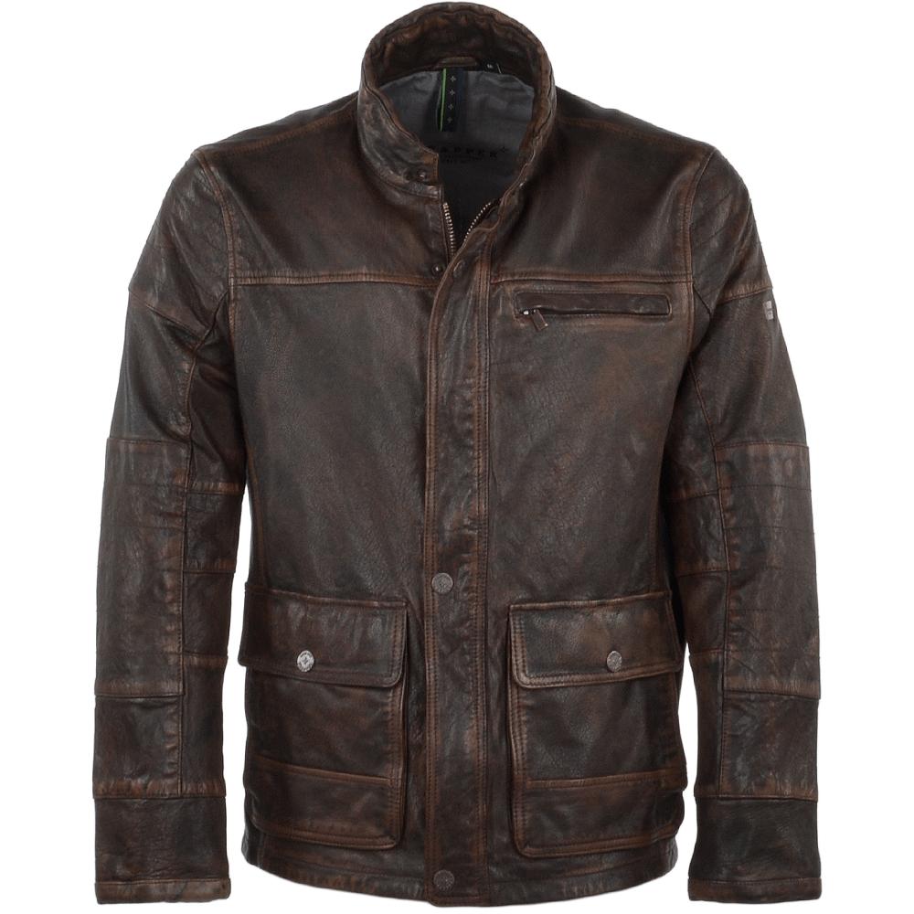 Vintage Leather Jacket >> Leather Vintage Jacket Brown Joshua
