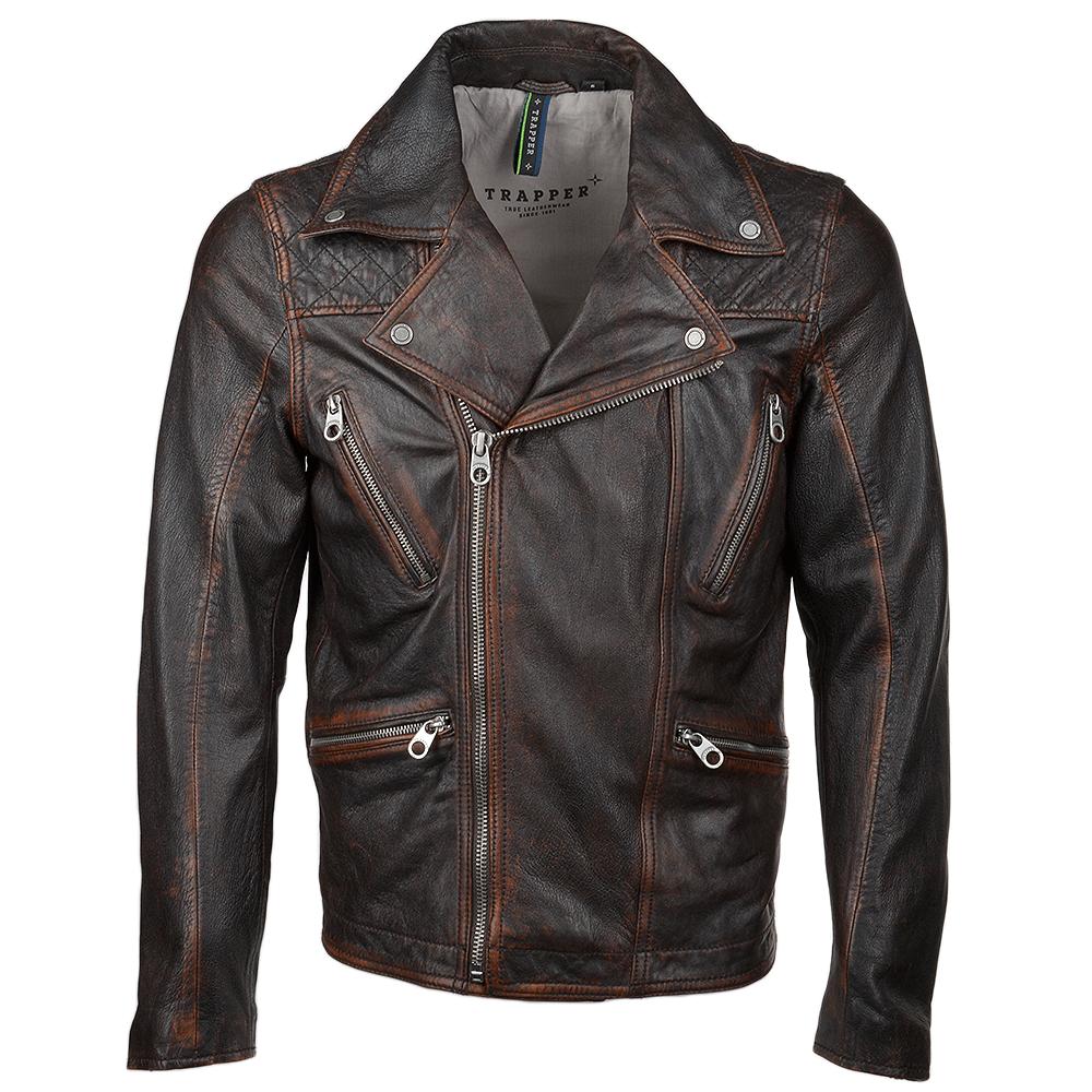 Vintage Leather Jacket >> Vintage Leather Biker Jacket Antique Rudi