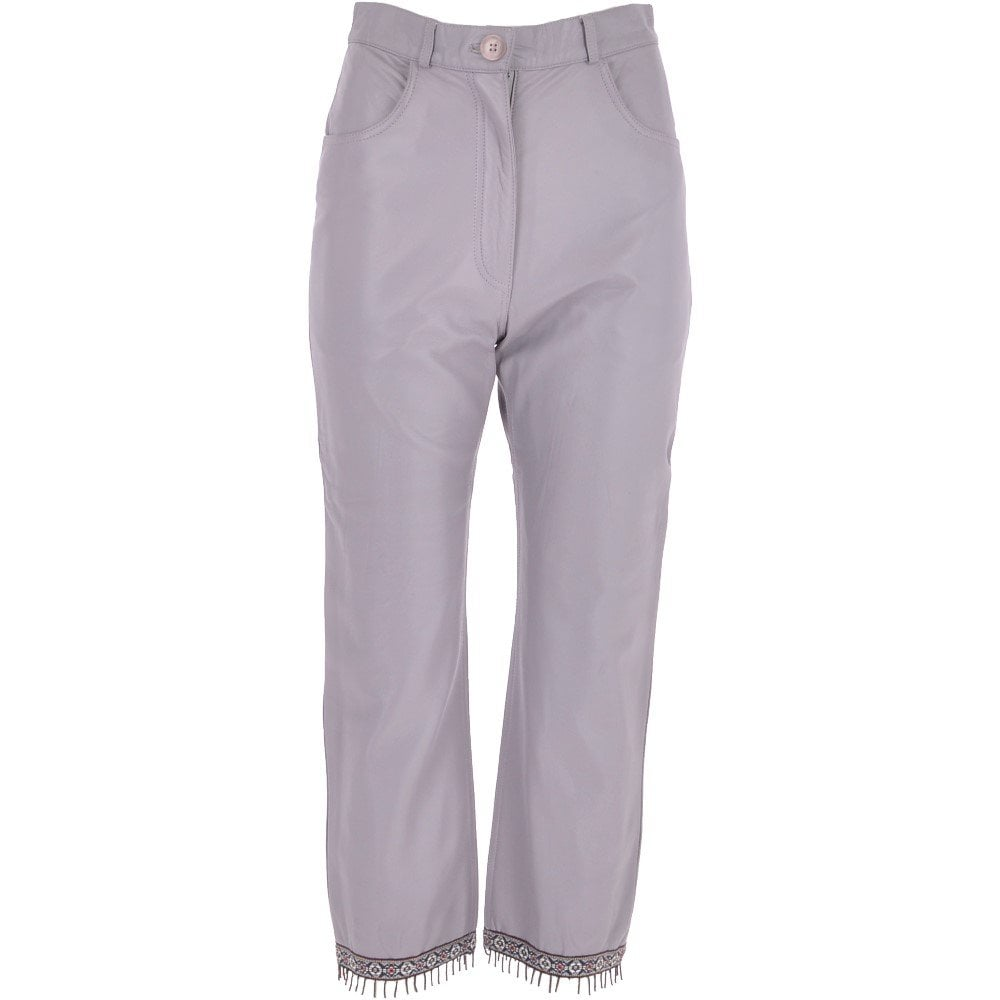top style complete in specifications sophisticated technologies Womens 60's Hippy Leather Jeans Lilac: Kisa 0479
