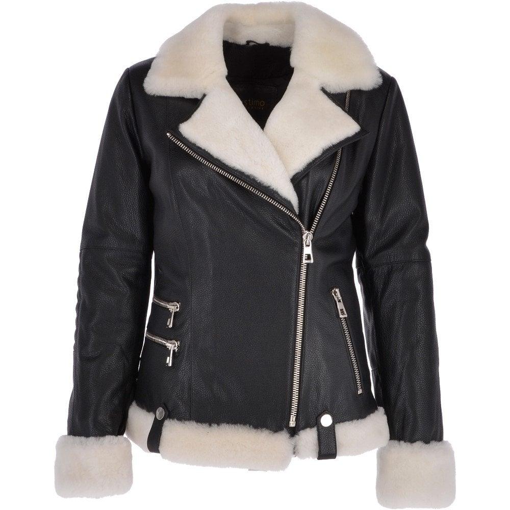 biker jacket women fur